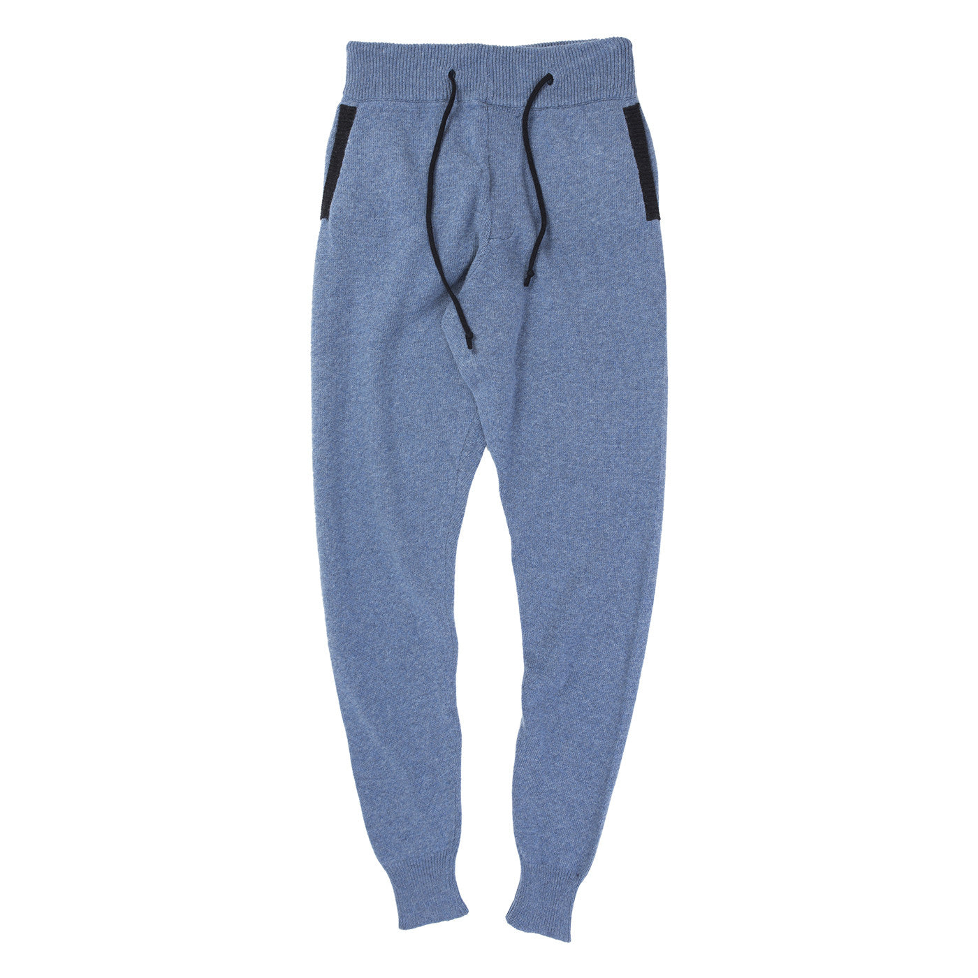 KNITTED SWEAT PANTS (BLUE)