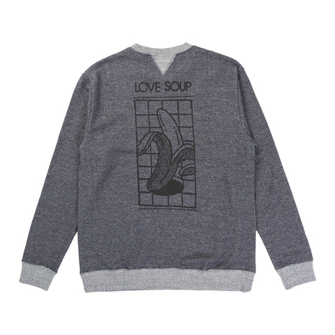 CREW SWEAT (LOVE SOUP) NAVY