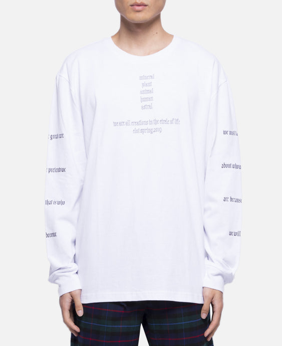 Circle Of Life L/S T-Shirt (White)