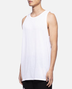 C Through Stripe Tank Top (White)