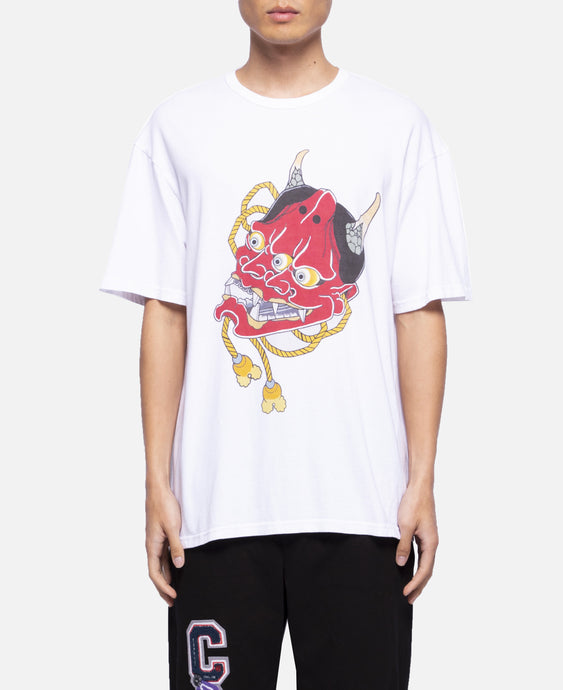 Double Hannya Face T-Shirt (White)