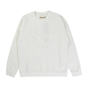 ELBOW PATCH SWEATER W/ EMBROIDERY