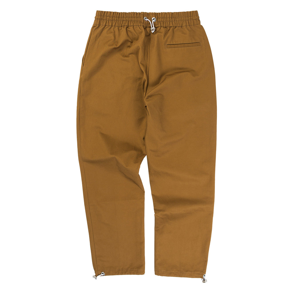 BUNGEE CORD HEM PANTS (BROWN)