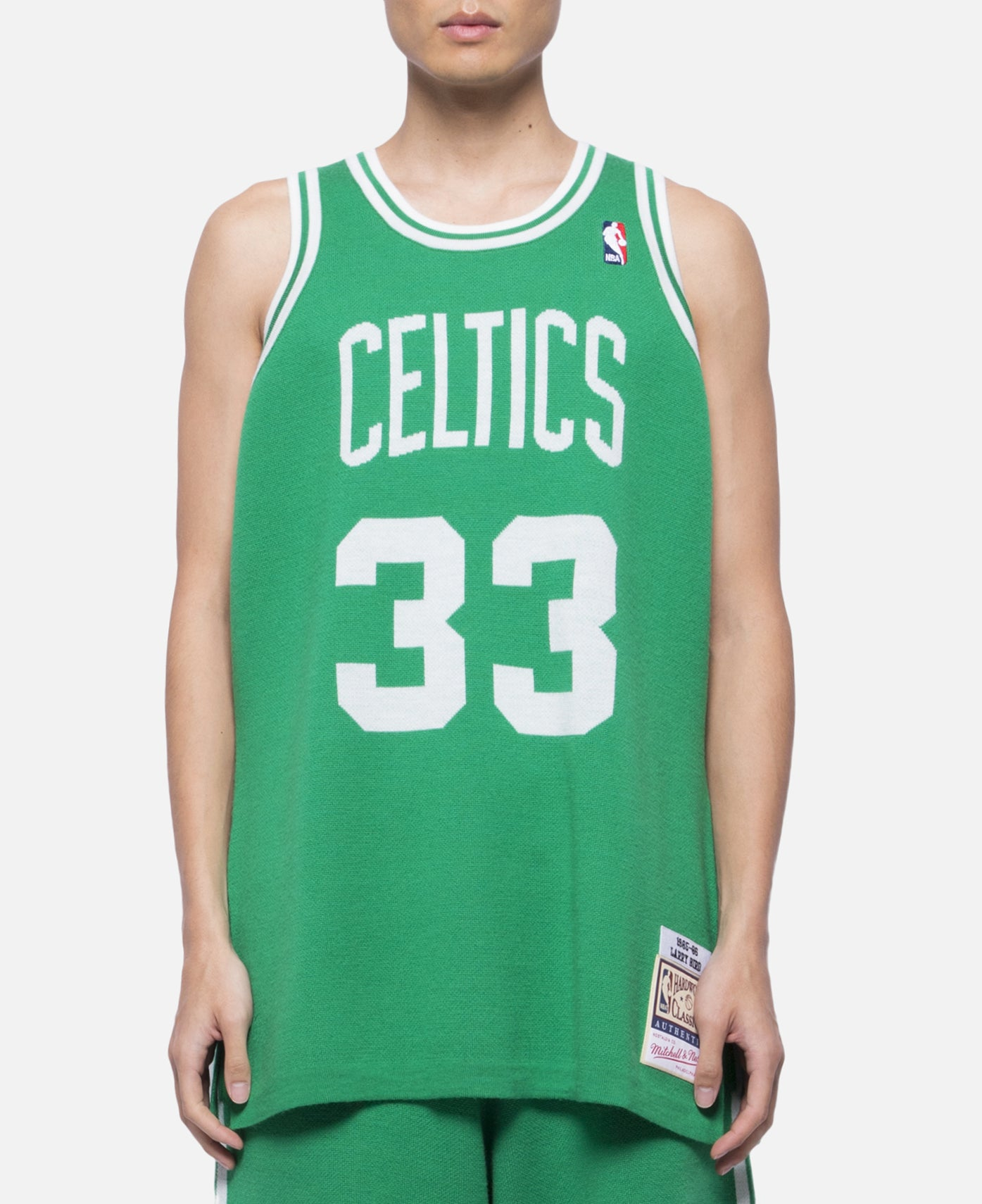 Celtics 85-86 Bird Knit Jersey