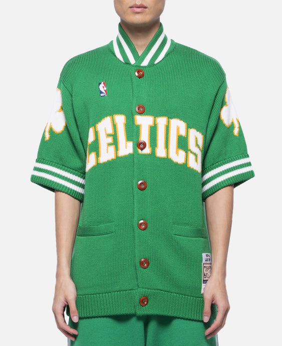 Celtics 83-84 Bird Sweater Knit Shooting Shirt
