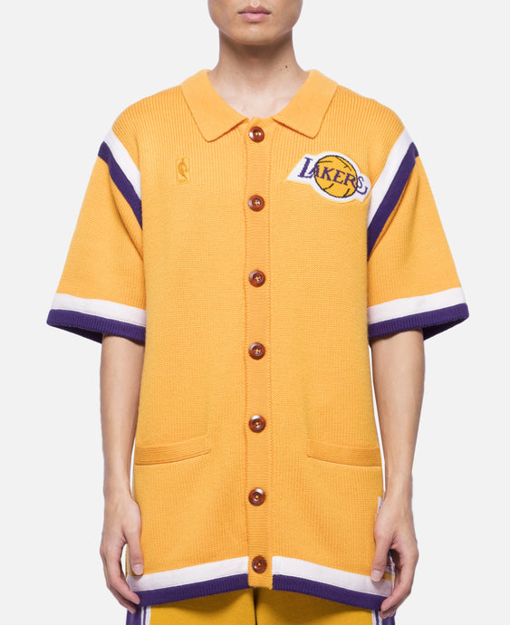 Lakers 86-87 Johnson Sweater Knit Shooting Shirt