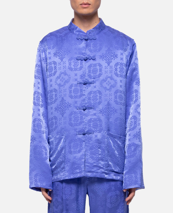 L/S Silk Shirt (Purple)