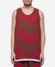 Border Knit Basketball Tank Top (Red)
