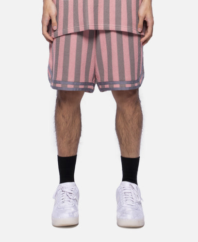 Russell Stripe Basketball Shorts (Pink)