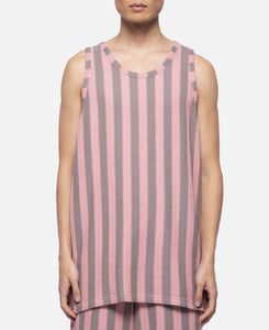Russell Stripe Basketball Tank Top (Pink)