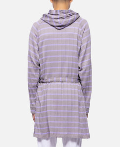 Cable Border Bath Robe (Grey)