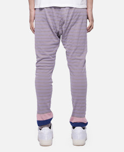 Pique Panel Border Pants (Grey)
