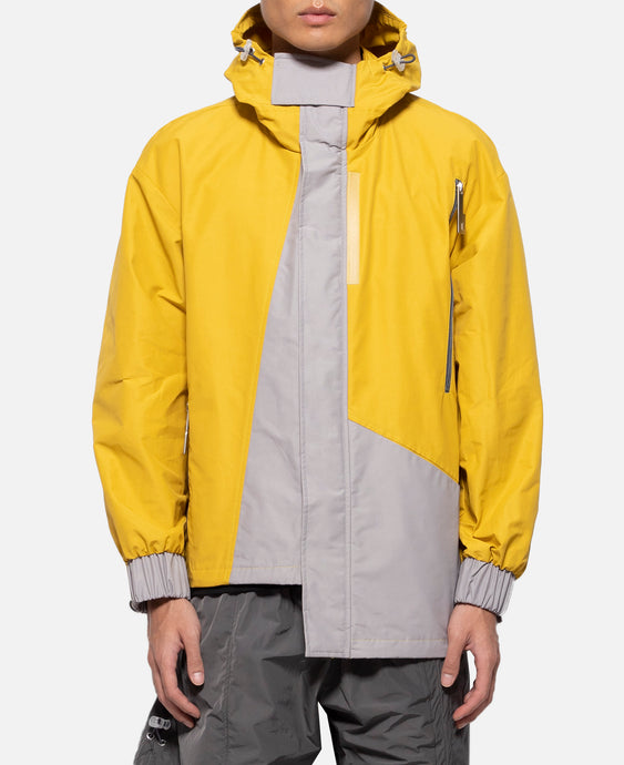 Hoody Asymmetrical With Visor (Yellow)