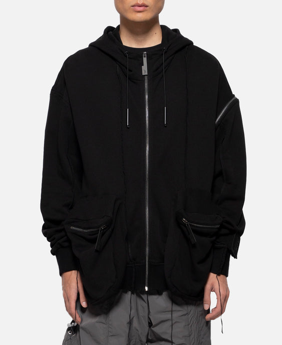 Hoodie With Sleeve Patch