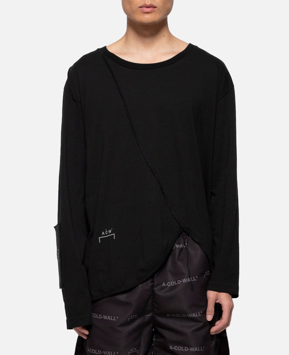 Raw Edge Panels L/S T-Shirt