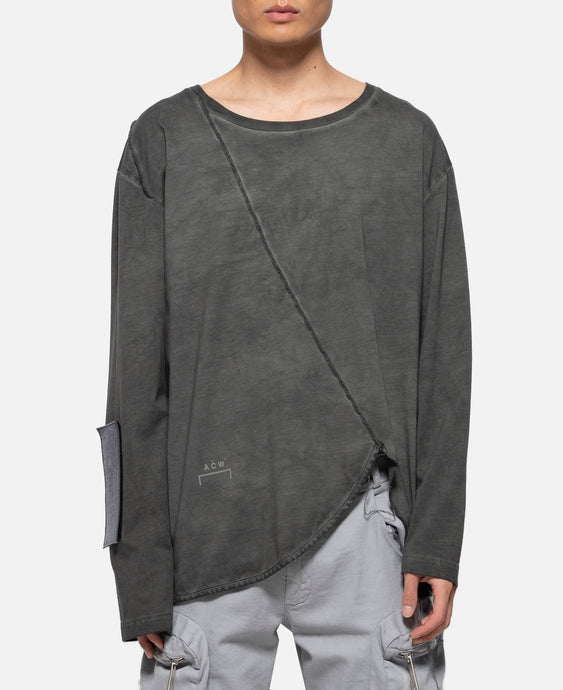 Raw Edge Panels T-Shirt (Grey)