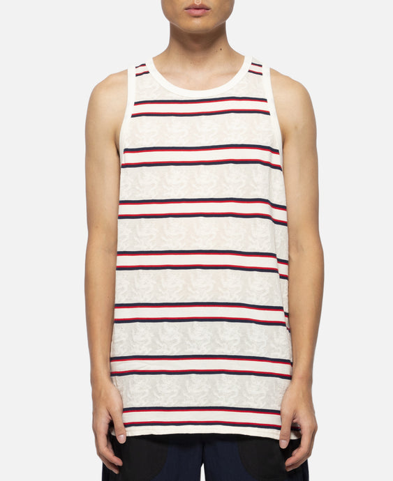 Dragon Border Tank Top (White)