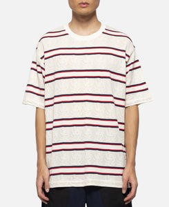 Dragon Border Oversized T-Shirt (White)