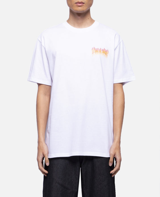 Flame Overlay S/S T-Shirt (White)