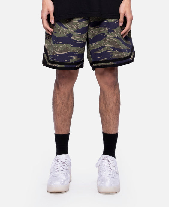 Tiger Camo Basketball Shorts (Olive)