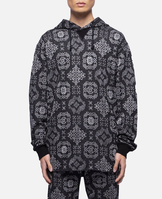 CLOT Pattern Sweat Hoodie (Black)