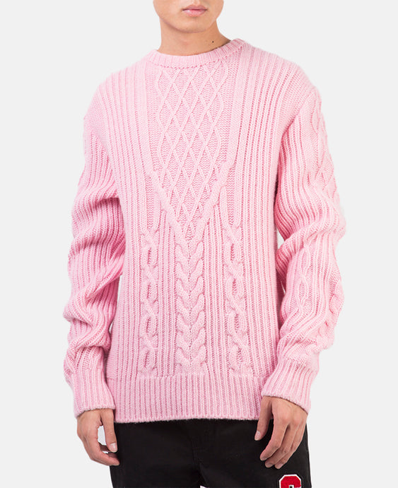 CABLE KNIT SWEATER (PINK)