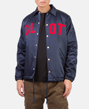 METALLIC COACH JACKET (BLUE)