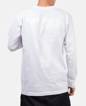 STAPLE LONG SLEEVE (WHITE/ORANGE)