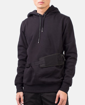 HOODIE WITH UTILITY WAIST BELT