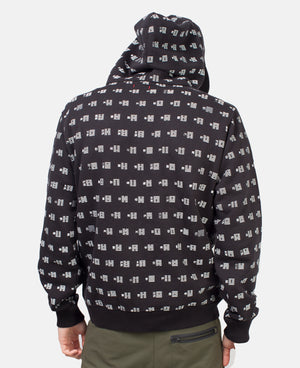 I CHING PATTERN ZIP UP HOODIE (ONLINE EXCLUSIVE)