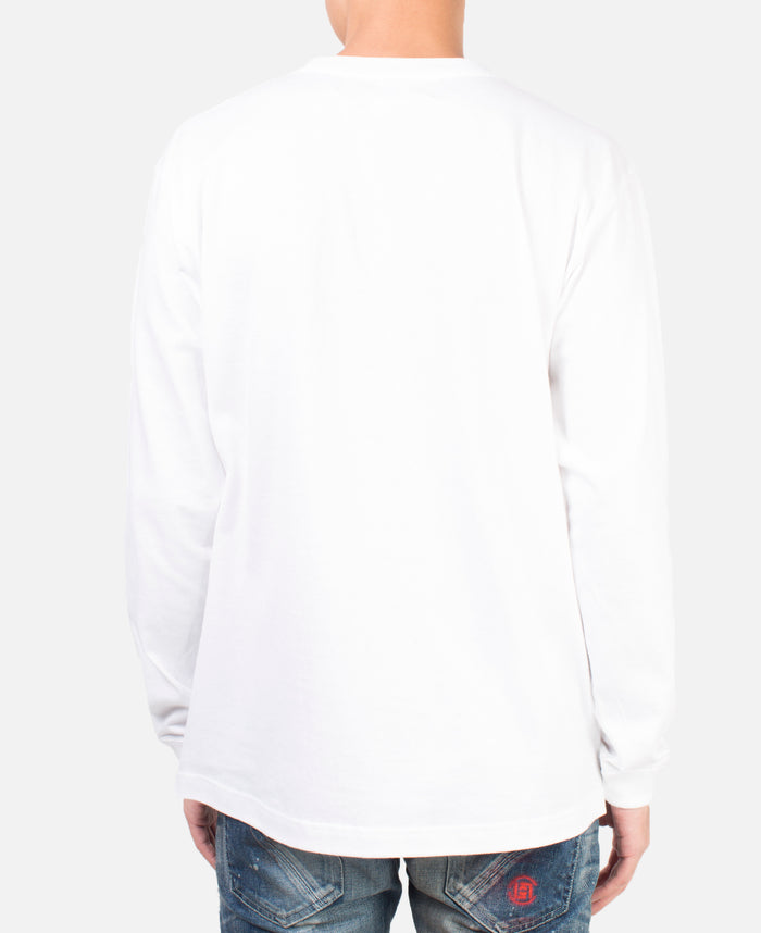 TONGUE L/S T-SHIRT WHITE