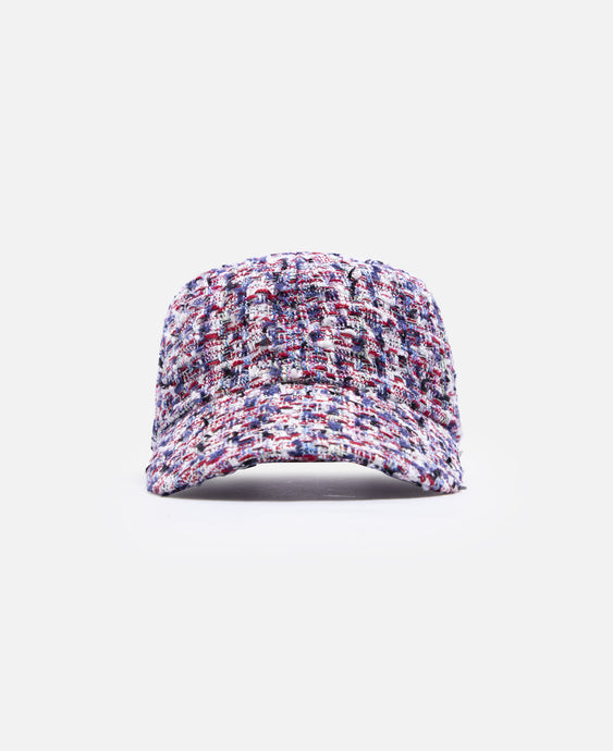 Fancy Tweed Cap (Red)