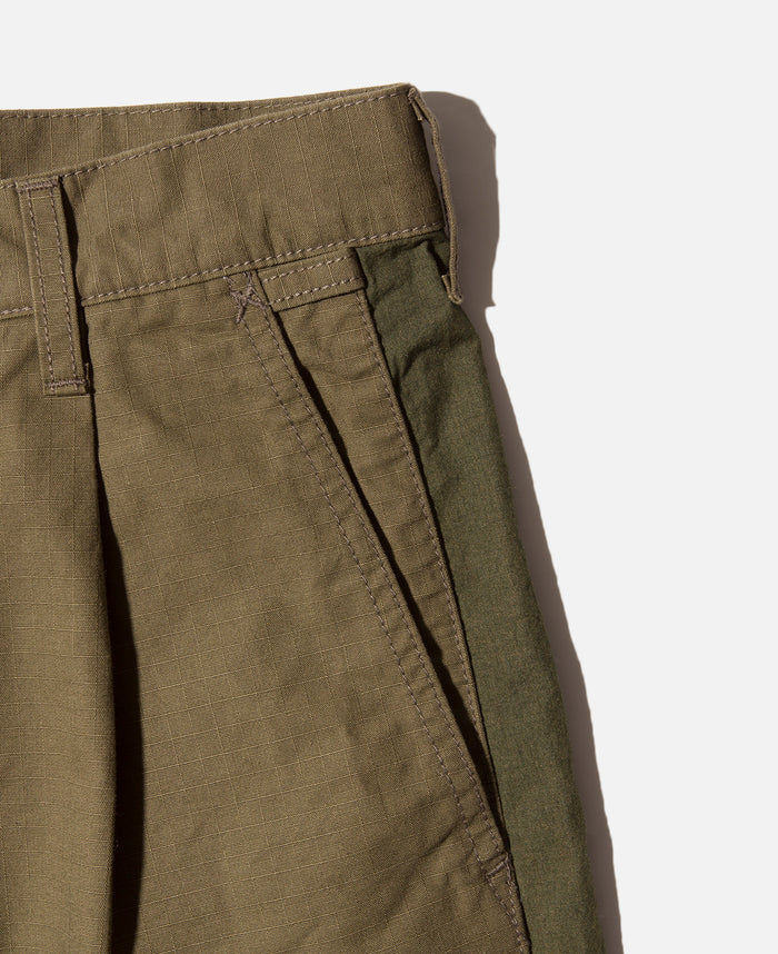 Side Tape Wide Short Pants