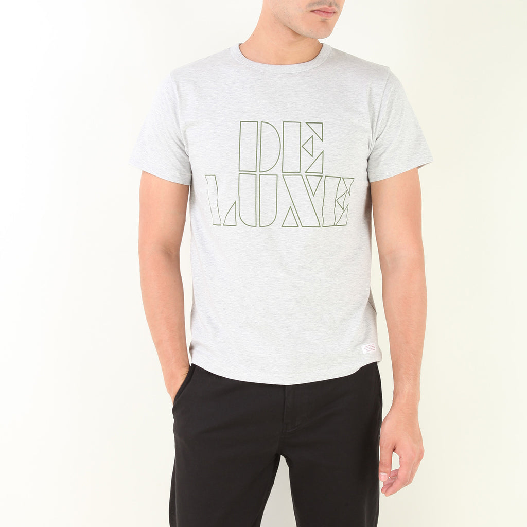 "T-SHIRTS ""DELUXE LOGO TEE"" (GREY)"