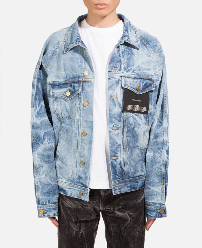 Selvedge Denim Holy Water Trucker Jacket