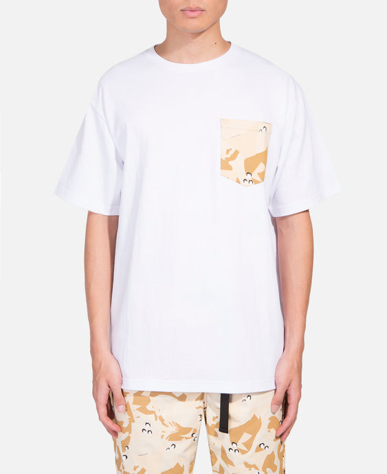 Egra Desert Camo Pocket T-Shirt (White)