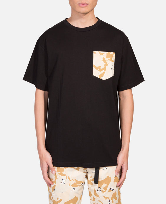 Egra Desert Camo Pocket T-Shirt (Black)