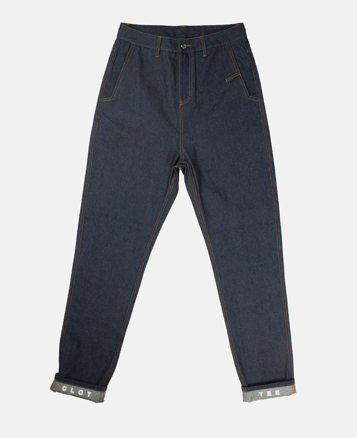 PATCHED DENIM (NAVY)