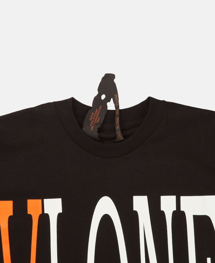 STAPLE TOP (BLACK/ORANGE)