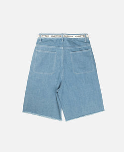 DRAWSTRING DENIM SHORTS