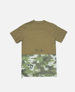 Panelled S/S T-Shirt (Green)