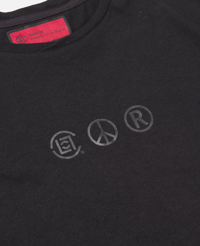 Logo Printed S/S T-Shirt (Black)