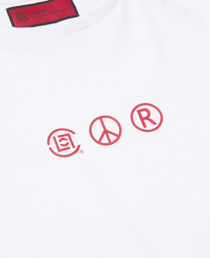 Logo Printed S/S T-Shirt (White)