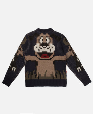 DUCK HUNTING KNIT SWEATER (BLUE)