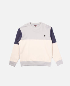 Color Block Crewneck Sweat (Grey)