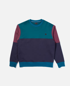 Color Block Crewneck Sweat (Blue)