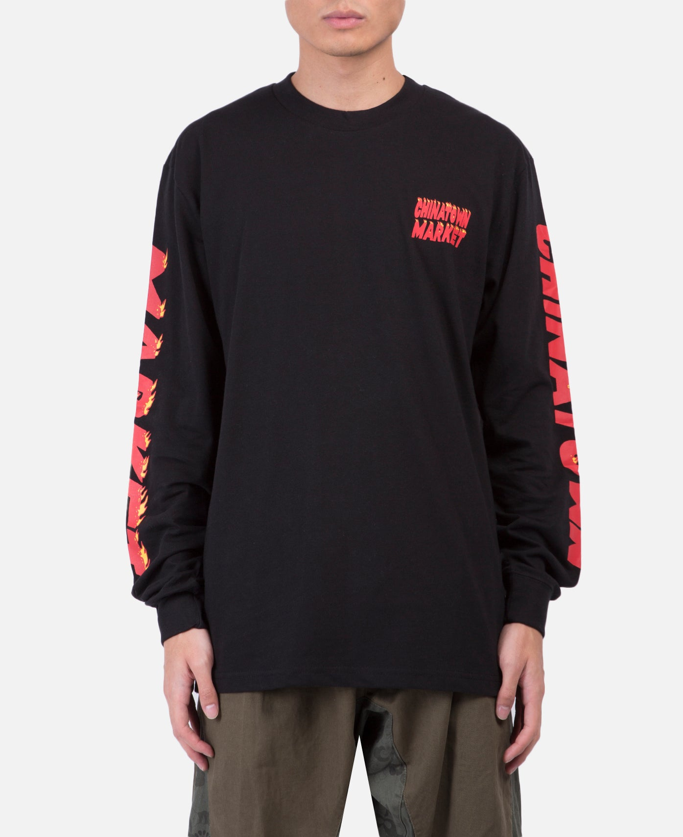 Flames Long Sleeve T-Shirt