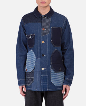 Patchwork Coverall Rinse