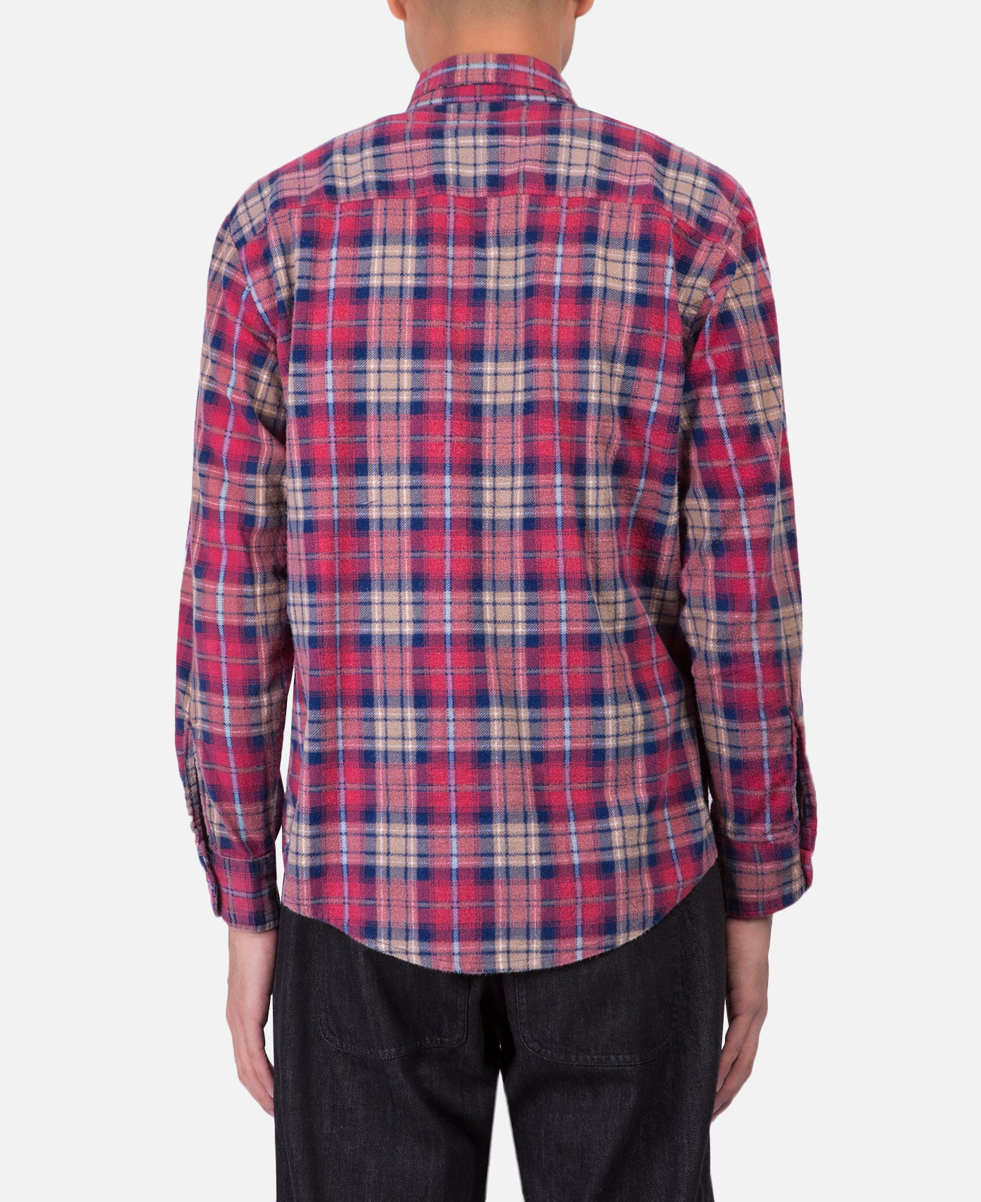 Needles Rebuild Flannel Shirt (Purple)