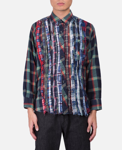 Needles Rebuild Flannel Shirt (Green)